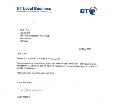BT Local Business Testimonial