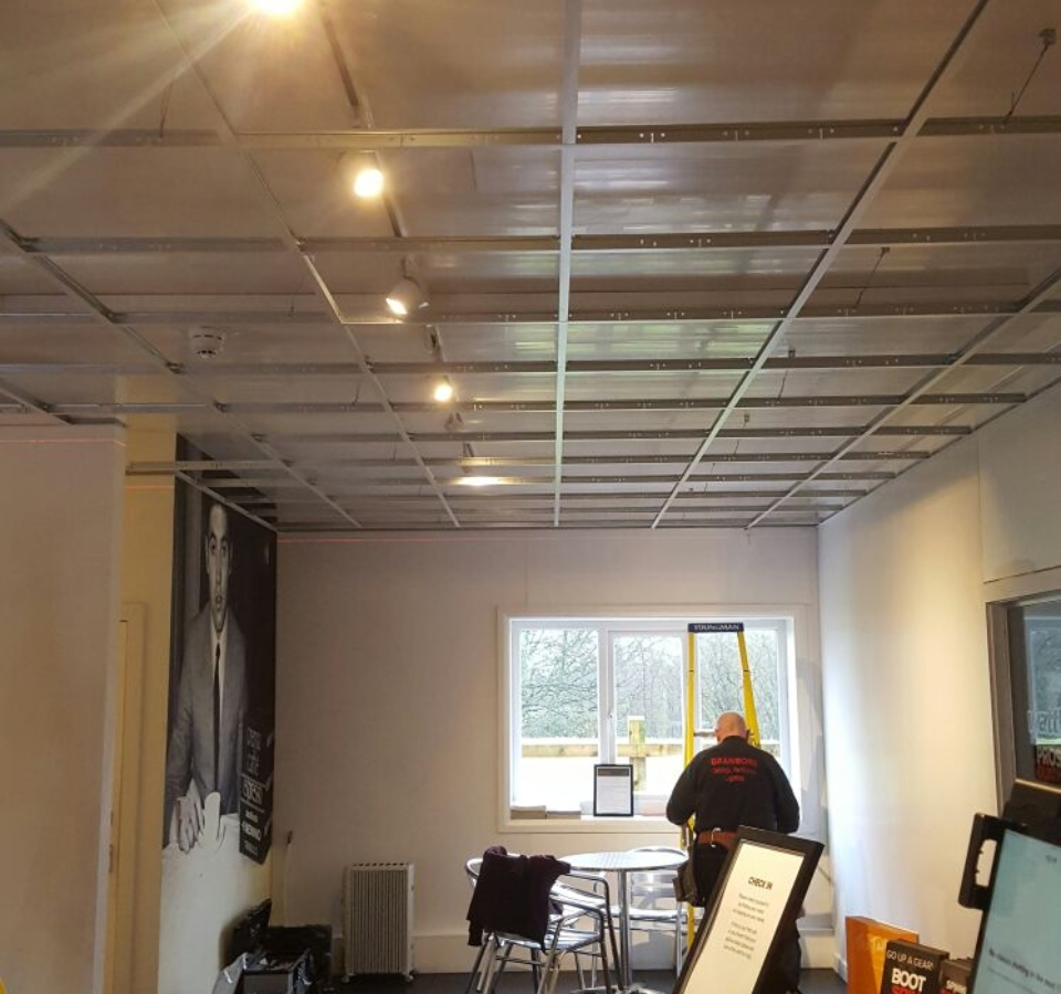 Suspended Ceiling Tiles At Manchester Care Home Granmore